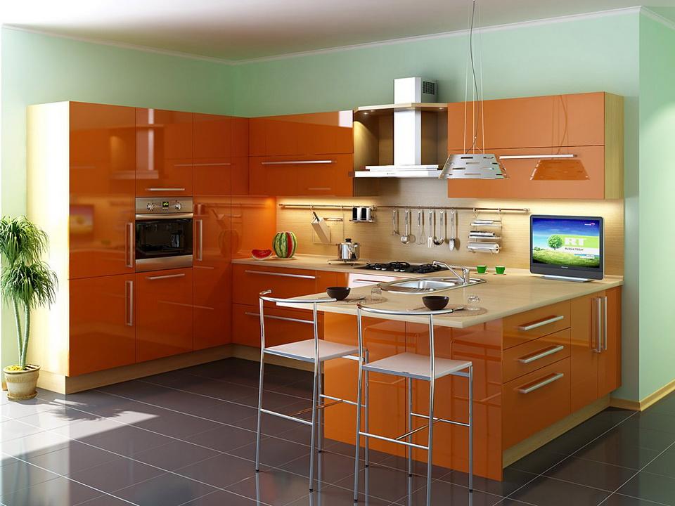 Акриловые фасады для кухонной мебели
